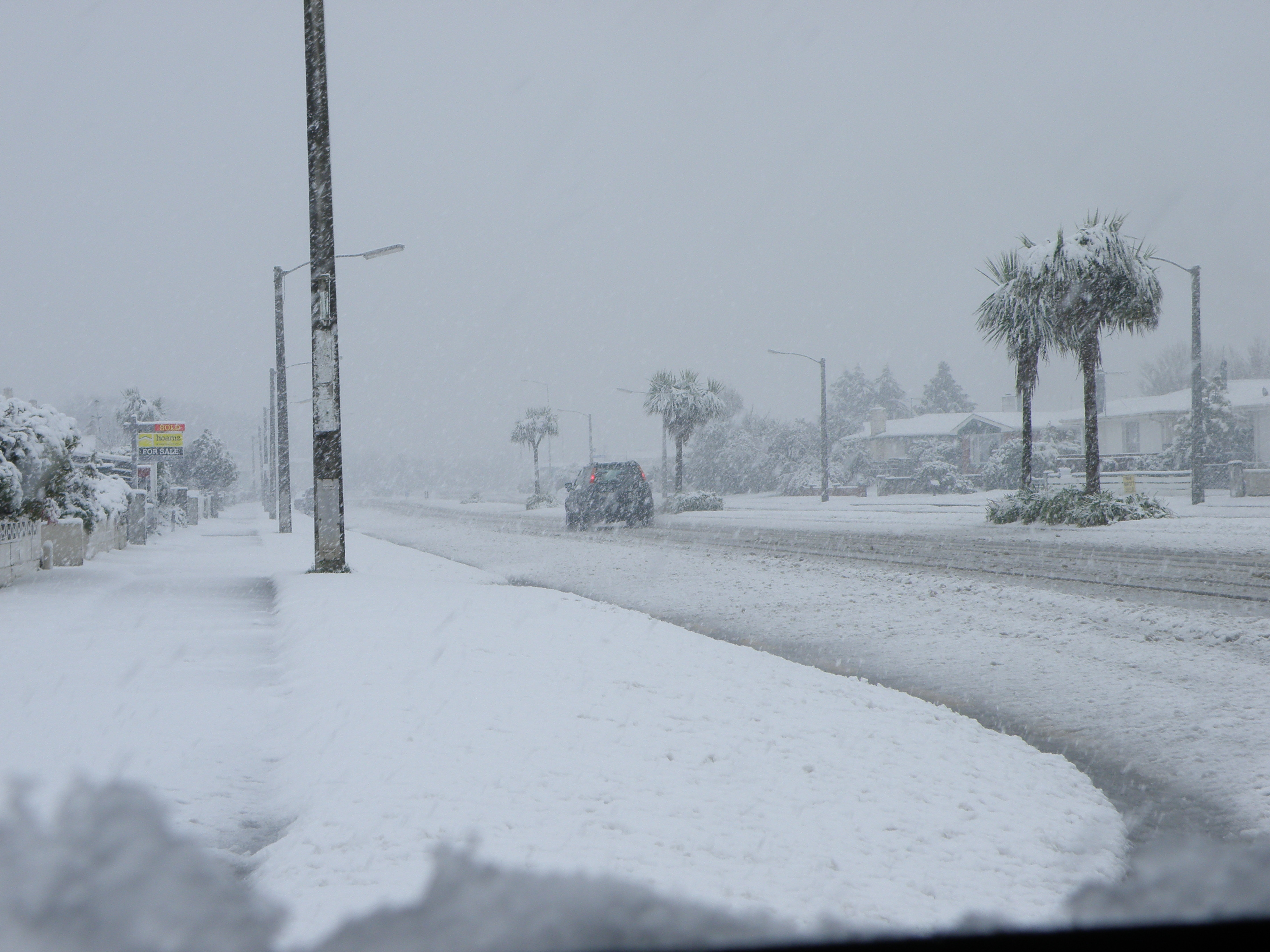 The Day Invercargill Got Snow And The Roof Of The Stadium